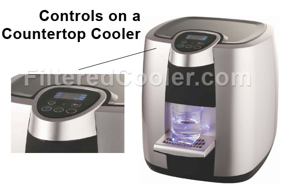 Controls on a Countertop Cooler