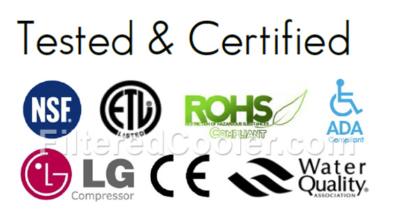 Cooler Certifications, NSF, ADA